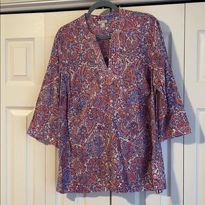 🦞NWOT Talbots elbow length sleeve top